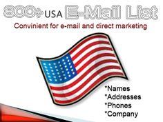 USA E-MAIL LIST OF 800+ COMPANIES: Sell 800 USA Company E-mail List Just For Marketin...