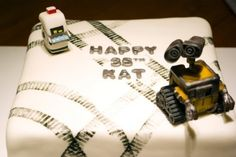 Wall E cake- the hardest part was making the tracks but this was his favorite cake so far.