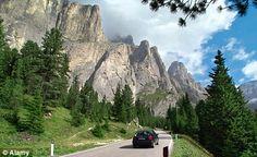 Driving the Great Dolomite Road  ss48 grande strada delle dolomiti