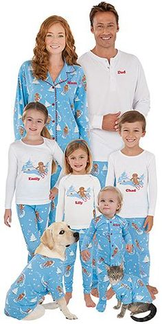 Family Matching Christmas Pajamas. Begin a new tradition for the holidays this year. The whole family can wear matching pajamas! Here are several choices for family matching Christmas pajamas.