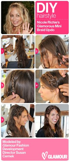 Another cool Nicole Richie braid how-to--modeled by our own Susan Cernek!