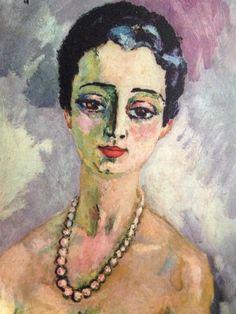 'Louisa' by Van Dongen Portraits, Portrait Art, Monte Carlo, Figurative Kunst, Dutch Painters, Post Impressionism, Colored Highlights, Vintage Artwork, Museum Of Fine Arts
