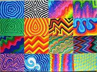 Lines composition, felt-tip-pen