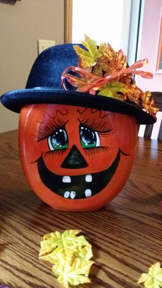 Tide Pod Pumpkin, by Marie Bebeau - Hamsi Bro Fall Pumpkins, Halloween Pumpkins, Halloween Crafts, Halloween Decorations, Fall Decorations, Fall Crafts, Holiday Crafts, Crafts For Kids, Tide Pods Container