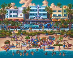 South Beach by Eric Dowdle. Now available as a Dowdle Puzzle!