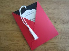 Graduation Invitation Pullout Tag with Tassel by YesYouAreInvited