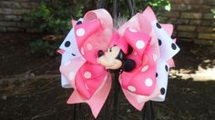 Minnie Mouse Hair Bows Monnie Mouse Minnie by HelloSassyBoutique, $10.99