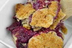 """Sun Kissed"" Mixed-Berry Cobbler / @DJ Foodie / DJFoodie.com"