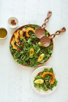 Recipe Box: Autumn Arugula Salad from Be Well By Kelly - Lauren Conrad Thanksgiving Recipes, Fall Recipes, Holiday Recipes, Arugula Salad Recipes, Quinoa Salat, Winter Food, Easy Healthy Recipes, Spiritual Inspiration, Inspiration Quotes
