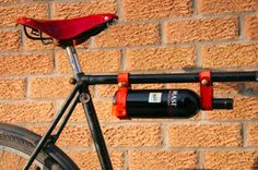 This gorgeous leather bicycle wine carrier makes transporting that wine bottle on your bike a snap, literally! Take a bottle of wine on your next cycling adventure, with our leather and brass wine holder. Wine Carrier, Bottle Carrier, Bike Gadgets, Retro Bikes, Leather Bicycle, Nice Rack, Cool Stuff, Bicycle Accessories, Fitness Accessories