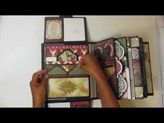 Part 2b: Hidden Flaps, Pockets & Decorating the Twas the Night Before Christmas Mini Album - YouTube