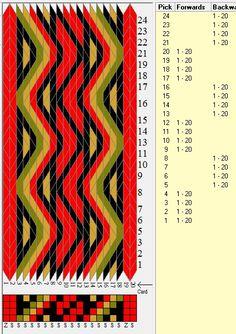 20 tarjetas, 4 colores, secuencia 4F-4B // sed_551 diseñado en GTT༺❁