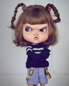 Temper Temper Girl Blythe doll costume revise in 2019 Cute Cartoon Pictures, Cute Cartoon Girl, Couples Anime, Angry Girl, Cute Girl Drawing, Cute Baby Dolls, Nina Simone, Art Anime, Doll Costume