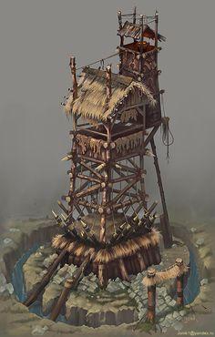 A tower for the bad guys. by Jonik9i.deviantart.com on @deviantART