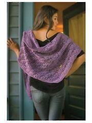 Rhombus Feather Shawl Knit Pattern
