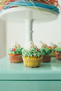 Bunny + Garden Cupcakes from a Hip Hop Easter Dance Party Play Date on Kara's Party Ideas | KarasPartyIdeas.com (41)