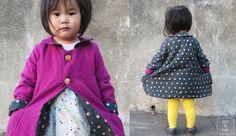 Reversible Coat Tutorial - so cute! // You & Mie