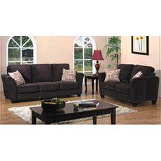 Mont Sac Dark Brown 2-piece Sofa Set