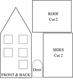 many templates for paper houses | 3D | Pinterest | House template ...