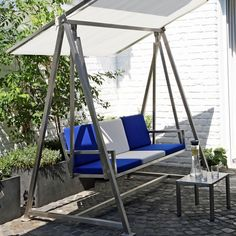 Loft Furniture, Sectional Furniture, Iron Furniture, Steel Furniture, Garden Swing Seat, Porch Swing, Modern Patio Design, Outdoor Toilet, Hanging Wall Planters