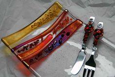 Fused Glass Plates & Fused Glass Bowls, Fused Glass Bowls by Glass Artist Kim Merriman