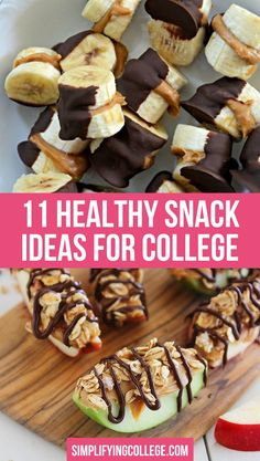 Looking for the best college snack ideas? Here are 11 healthy snacks for college students you can easily make in your dorm room! Healthy College Snacks, Easy College Meals, Healthy Snacks To Make, Quick Snacks, Healthy Meal Prep, Healthy Desserts, Food To Make, College Cooking, Healthy Eating