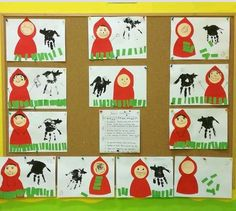 Fun Crafts, Diy And Crafts, Fairy Tale Crafts, Kindergarten Art Projects, Red Riding Hood, Little Red, Nursery Rhymes, Fairy Tales, Preschool