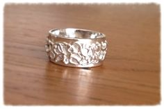 My first ring made from precious metal silver clay