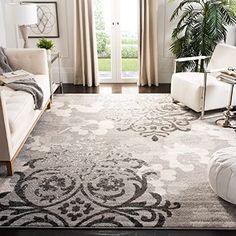 Rugs N' More has plenty of options of durable, high-quality floor coverings for sale for any space in your home. Damask Rug, Lodge Style, Floral Area Rugs, Motif Floral, Floral Theme, Room Rugs, Grey Rugs, Online Home Decor Stores, Colorful Rugs