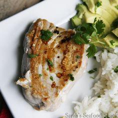 Seared Tuna with Cilantro