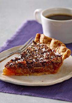 Salted-Chocolate Pecan Pie – Sea salt brings a surprise to this chocolate-studded pecan pie. It's the best of everything a dessert recipe should be all wrapped up in one pie shell.