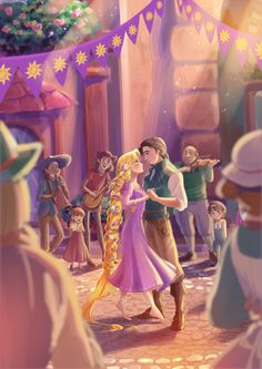 Rapunzel, and Flynn - I always have to fight back tears, during this scene...it think it's the music.
