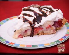 Banana Split Pie - 6 points with fruit counted, 5 Points without fruit counted. Yummm