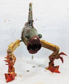 assemblage shark monster AKA mr wonderful by Valerobots on Etsy