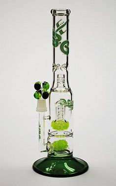 "12"" Tall Double Crushed Slyme Perc Diffused Water Pipe"