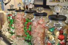 DIY Christmas candy mason jars