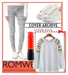 """""""ROMWE"""" by amilasahbazovic ❤ liked on Polyvore featuring Splendid, Alexander McQueen and MAC Cosmetics"""