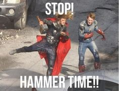 Collaborate and-- WTF? Can Thor not dance or what?