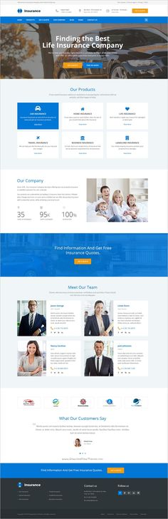 Insurance Agency - HTML5 Website Template | Insurance business