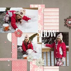"christmas scrapbook layouts ideas | Credits: Kit used is Sir Scrap-a-lot 's ""Hearts of Winter ..."