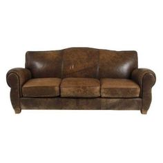 Distressed Leather Couch - $5,000 Est. Retail - $1,985 on Chairish.com