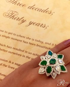 """""""Right around the corner of our 35th #anniversary, this contemporary #design is just one of the many #heirloom pieces from #thehouseofrose set in 18k White…"""""""