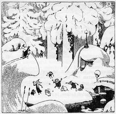 Snowball fight in Moominvalley