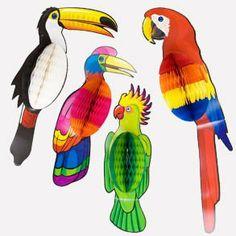Amazon.com: SALE Tropical Bird Tissue Decorations SALE: Toys & Games $12.99