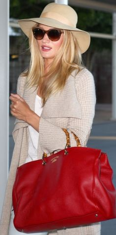 Glamour!!! Love the red bag