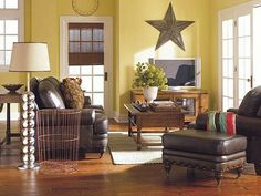I don't like the star, but I like the open, airy, comfortable, classy feel of the room.