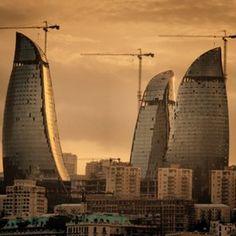 Baku, Azerbaijan   Flame tower Skyscraper