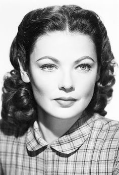 Gene Tierney in a promotional photo for The Secret of Convict Lake, 1951.