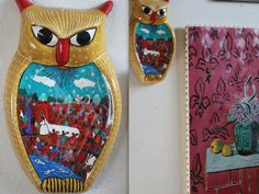 Flea-market Owls are the best. Isn't this the most beautiful ceramic owl? #owl #home #decor #accessories From: http://onceuponateatime.blogspot.com