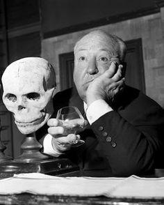Hitchcock + skull + brandy = suspense